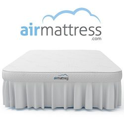 Air Mattress QUEEN size – Best Choice RAISED Inflatable Bed with Fitted Sheet and Bed Skir ...