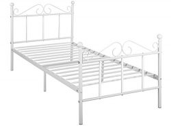 GreenForest Metal Bed Frame Twin Size with Headboard and Footboard Metal Slats Support Platform  ...