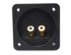 Absolute USA SST-450 3-Inch Square Gold Push Spring Loaded Jacks Double Binding Post Speaker Box ...