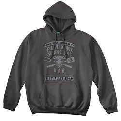 Tom Waits Inspired Filipino Box Spring HOG, Hoodie, X Large, Charcoal