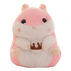 Funif Animal Plush Toy Stuffed Pillow Pet Cushion Gift for Kids Hamster with Cake 11″