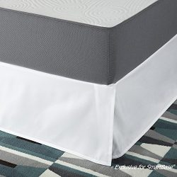 Zinus SmartBase Easy On/Easy Off Bed Skirt for 14 Inch SmartBase Mattress Foundation, Twin, White