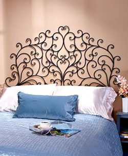 Scrolled Wall-Mount Headboard (Queen)