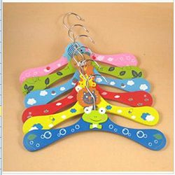 Bathroom Storage & Organisation – Children Wooden Hangers Baby Cartoon Wood Hangers &# ...