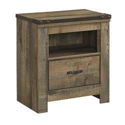 Ashley Furniture Signature Design – Trinell Warm Rustic Nightstand – Casual Master B ...