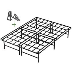 45MinST 16 Inch Tall SmartBase Mattress Foundation/Platform Bed Frame/3000LBS Heavy Duty/Extreme ...