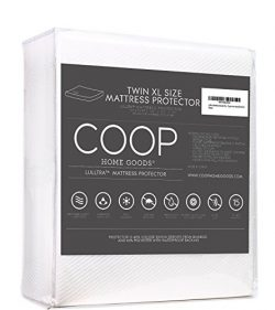 Coop Home Goods Lulltra Bamboo derived Viscose Rayon Mattress Pad Protector Cover by Cooling Wat ...