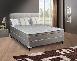 Spring Coil mattress, 10″ Pillowtop Eurotop, Fully Assembled Othopedic Queen Mattress &amp ...