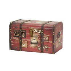 Household Essentials 9245-1 Medium Decorative Home Storage Trunk – Luggage Style – C ...