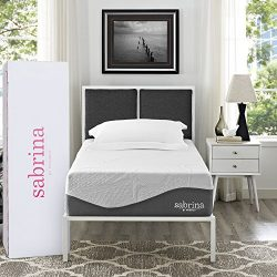 Modway Aveline Premium Sabrina 12″ Latex Air Gel Cooling Memory Foam Twin Mattress With Ce ...