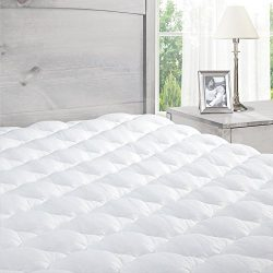 Pillowtop Mattress Pad with Fitted Skirt – Extra Plush Topper Found in Marriott Hotels  ...