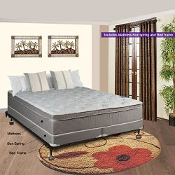 Spinal Solution Luxury Collection Fully Assembled Orthopedic 10″ Pillowtop Eurotop Mattres ...