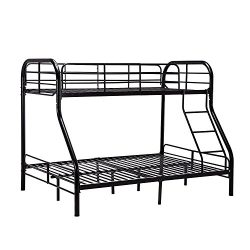 Mecor Twin over Full Metal Bunk Beds Frame with Ladder for Kids Teens Adult Loft Bed Set Dorm Be ...