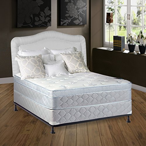 Spring Solution 448A-5/0-2 Pillowtop Eurotop Fully Assembled Othopedic Mattress and Box Spring,  ...