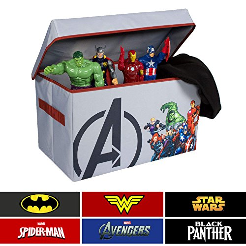 Avengers Collapsible Kids Toy Storage Chest By Marvel U2013 Flip Top Toy  Organizer Bin For