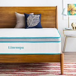 LINENSPA 12 Inch Gel Memory Foam Hybrid Mattress – Ultra Plush – Individually Encase ...