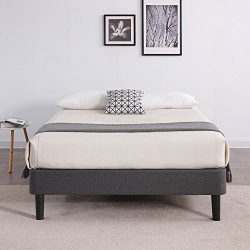 Classic Brands DeCoro Claridge Upholstered Platform Bed | Metal Frame with Wood Slat Support | G ...