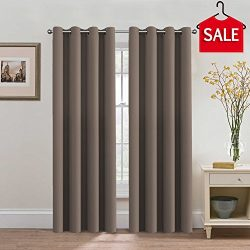 H.VERSAILTEX Premium Blackout Thermal Insulated Room Darkening Curtains for Bedroom/Living Room  ...