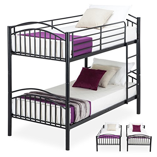 Mecor Twin over Twin Bunk Bed-Removable Metal Bunk Bed Frame with Ladder For Kids/Adult Children ...