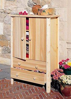 Rustic Natural Cedar Furniture Wardrobe Armoire