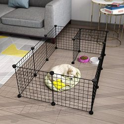 LANGRIA 23 pcs Metal Wire Storage Cubes Organizer, DIY Small Animal Cage for Rabbit, Guinea Pigs ...