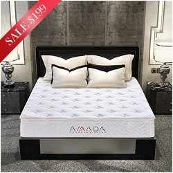 Queen Mattress, 12 Inch Memory Foam Mattress with Individually Wrapped Innerspring and CertiPUR- ...