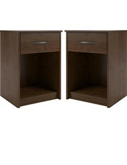 Set of 2 Nightstand MDF End Tables Pair Bedroom Table Furniture in Northfield Alder Finish