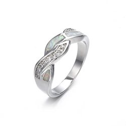 SMALLE◕‿◕ Clearance,Women Fashion Fashion Diamond Cylindrical Rings Fine Ring Size 6/7/8/9/10