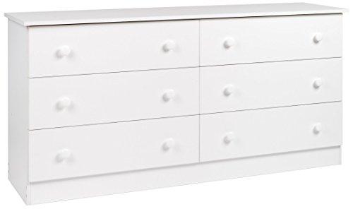 Prepac White 6-Drawer Dresser