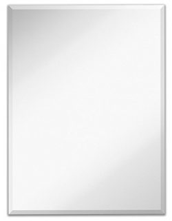 Light In the Dark Rectangle Wall Mirror with Beveled Edge – Large Frameless Glass Panel fo ...