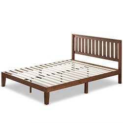 Zinus 12 Inch Wood Platform Bed with Headboard/No Box Spring Needed/Wood Slat Support/Antique Es ...