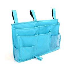 MoYag 8 Pockets Bedside Storage Caddy Hanging Organizer Bag Bunk Hospital Beds, Dorm Rooms Bed R ...