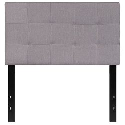 Flash Furniture Bedford Tufted Upholstered Twin Size Headboard in Light Gray Fabric