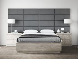 VANT Upholstered Headboards – Accent Wall Panels By- Packs Of 4 – Suede Gray – ...
