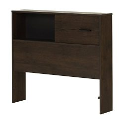 South Shore Fynn Headboard with Storage, Twin 39-Inch, Brown Oak