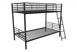 DHP DZ84314 Tailor Convertible Bunkbed, Twin/Twin, Black