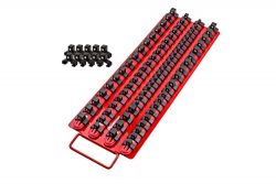 80pc Portable Socket Organizer Tray – Premium Socket Tray – Adjustable Socket Wrench Holder – St ...