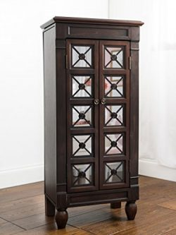 "Hives and Honey ""Cadence Jewelry Armoire, Espresso"