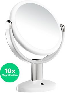 Vremi 10x Magnified Vanity Mirror – 7 Inch Round Makeup Cosmetic Mirror for Bathroom or Be ...