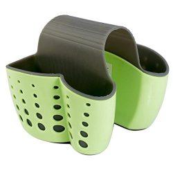 YJYdada New Sponge Holder Sink Caddy Soap Holder For Kitchen Plastic Storage Baskets (Green)