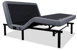 iDealBed 4i Custom Adjustable Bed Base, Wireless, Massage, Dual USB Charge, Nightlight, Zero-Gra ...