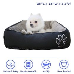 Pet Paw Pet Bed for Cats and Small Dogs High Quality/Fade resistance- Improved Sleep -Machine Wa ...
