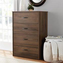 Mainstays 4-Drawer Dresser, Canyon Walnut
