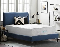 LUCID 16 Inch Plush Gel Memory Foam and Latex Mattress – Four-Layer – Infused with B ...