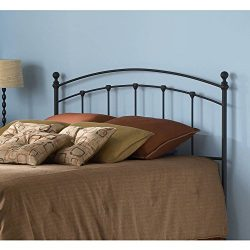 Matte Black Headboard, Contemporary Style, Queen Size, Black Powder Coated Finish, Bedroom Furni ...