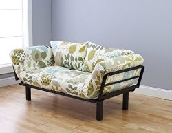 Futon Sofa Couch and Daybed or Twin Bed Size with 6 Mattress. Floral Futon Cover Is Perfect for  ...