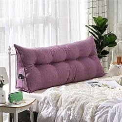 VERCART Velvet Sofa Bed Large Soft Upholstered Headboard Filled Wedge Cushion Bed Backrest Posit ...