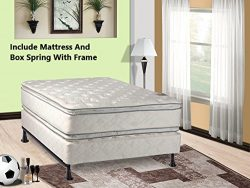 Mattress Solution 302yF-5/0-2 12-Inch Plush Pillow Top, Orthopedic Double-Sided Mattress and Box ...