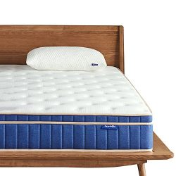 Sweetnight 8 Inch Full Size Mattress – Individually Pocket Spring Hybrid Mattress in a Box ...