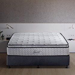 Jacia  House 11.4 Inch Pillow Top Memory Foam Innerspring Independently Encased Coil Mattress, Queen